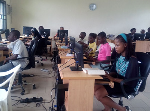 The centre continues to train students in ICT and related areas.