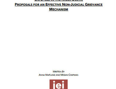 Oil spills in the Niger Delta: Proposals for a non-judicial grievance mechanism