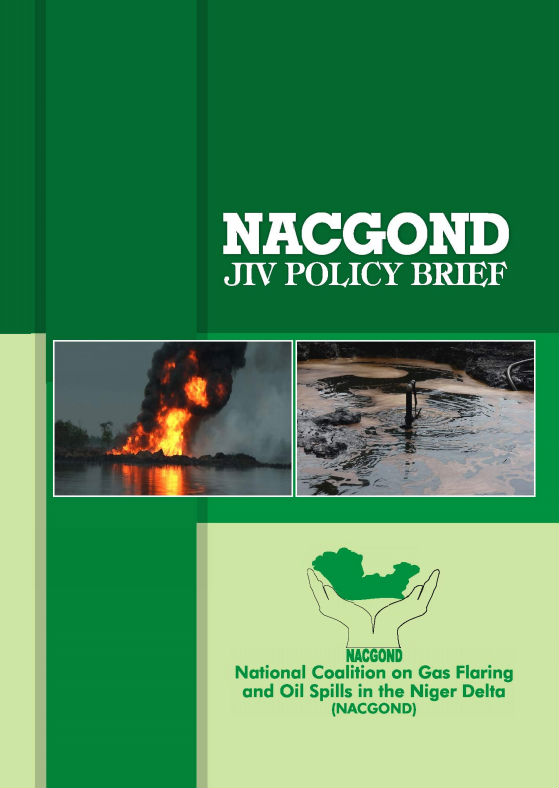 Download the report Oil Spills - reflections on JIV and community interests