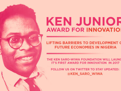 Ken Saro-Wiwa Foundation award for innovation