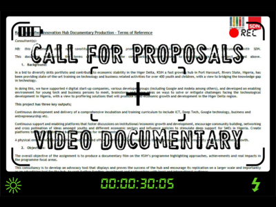 Call for proposals: Ken Saro-Wiwa Innovation Hub Documentary Production