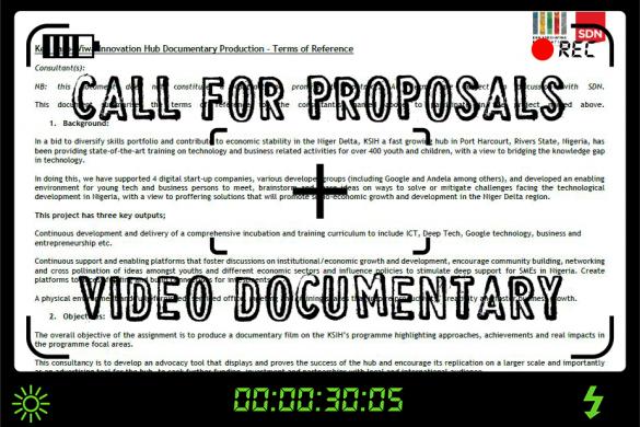 Call for proposals: Ken Saro-Wiwa Innovation Hub Documentary Production
