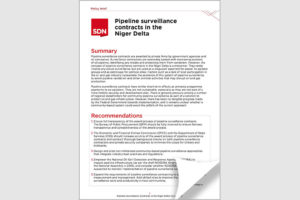 Pipeline surveillance contracts in the Niger Delta