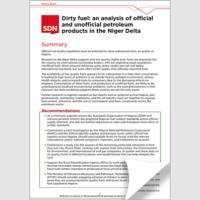 Policy brief: Dirty fuel