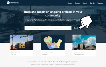 How to use DevelopND.ng to report or check on projects near you